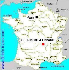 clermont ferrand carte auvergne